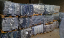 Extruded PVC clear blister pack skeletal scrap in bales