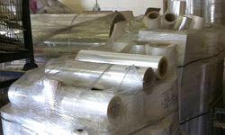 Extruded PVC clear blister pack skeletal scrap in bales or rolls